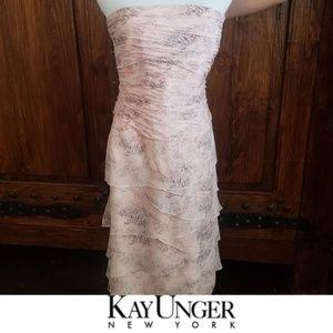 Kay Unger Strapless Dress